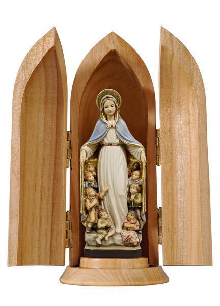 Holy Mary with Sheltering Coat In Niche