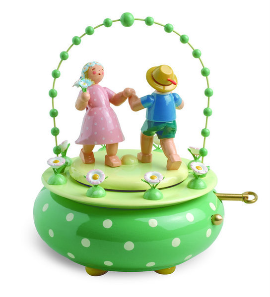 "Music Box ""Two dancers in the garden"""